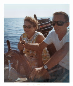 Donna\'s Mom and Dad on a Boat in 1970