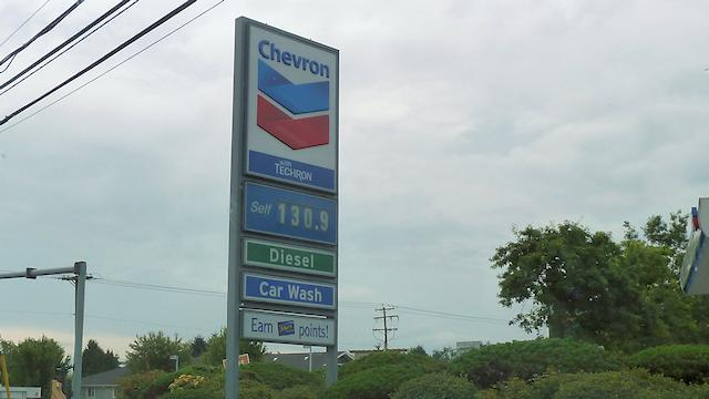 Gas Station Outside Vancouver, that's per Litre or $4.97 US per gallon