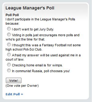 League Managers Poll