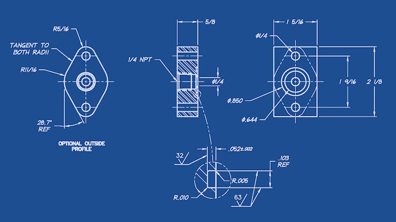 1/4 NPT Adapter Plate