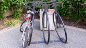 Bike Shaped Bike Rack